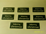 "10 - 100 x Merry Christmas words stencils for Christmas window decoration - snow spraying!  4 "" x 4"""